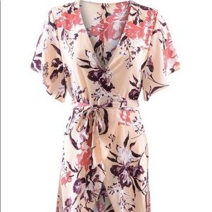 Leith- Floral Wrap Dress